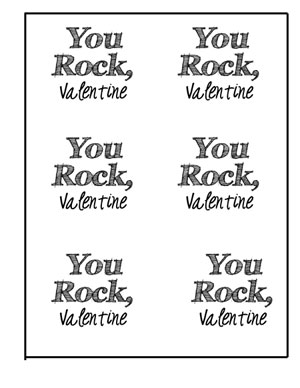 picture relating to You Rock Valentine Printable identified as Valentine Sweet Pockets Cost-free Printable Solar inside of my pocket