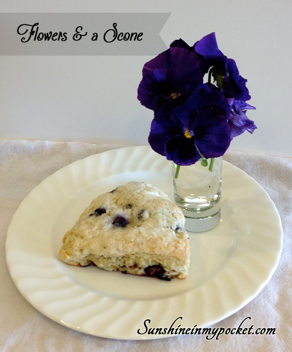 flowers-and-a-scone