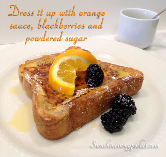 Bruleed Orange French Toast Recipe — Dishmaps