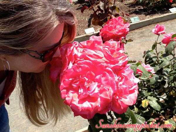 kari-smelling-roses