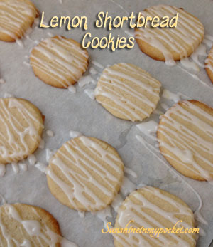 Kari's Lemon Shortbread Cookies
