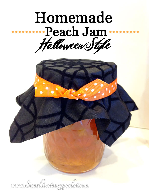 homemade-peach-jam-halloween-style