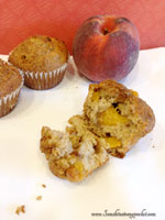 Fresh Peach Spiced Muffins with Brown Sugar Streusel