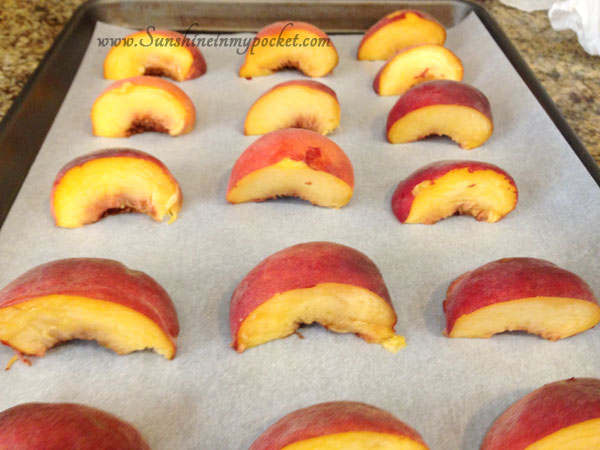 peaches-on-baking-sheet